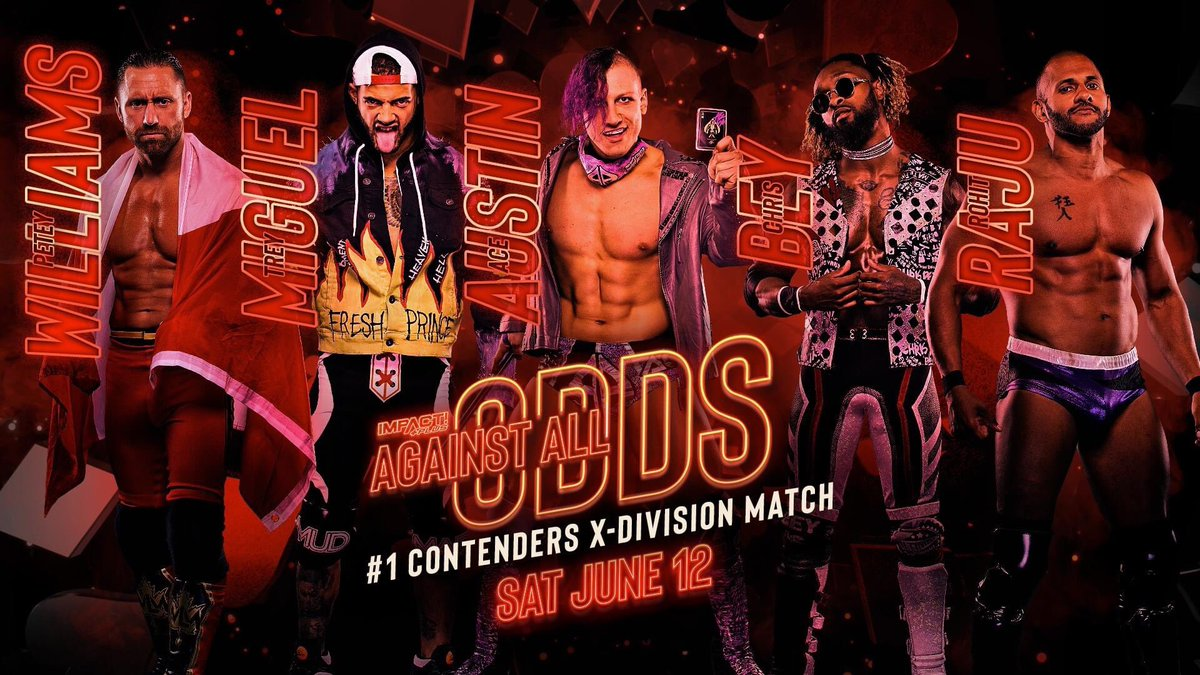 Rohit Raju, Chris Bey, Petey Williams, Trey Miguel and Ace Austin will face off at Against All Odds