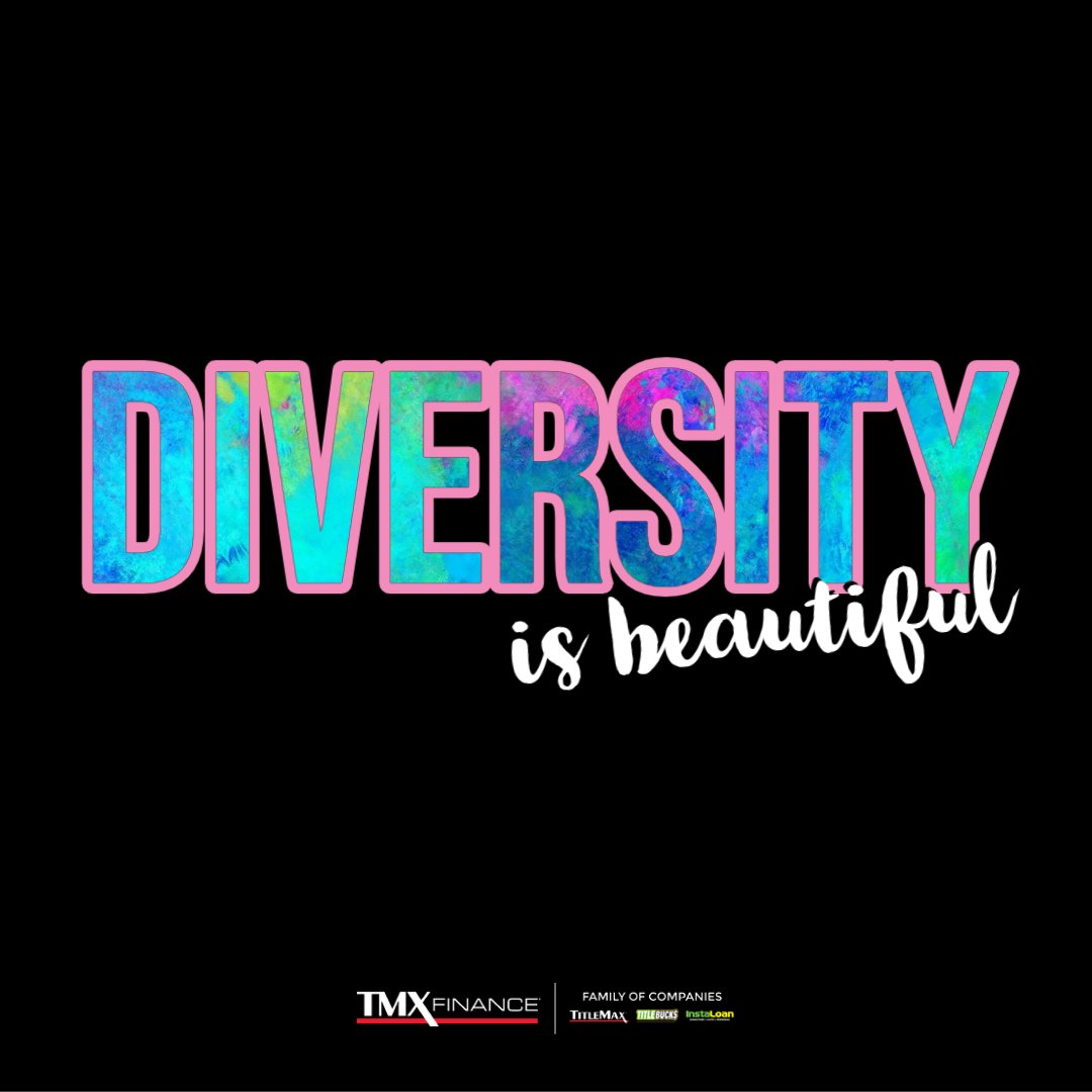 #DiversityIsBeautiful: Our Company takes #pride in cultivating a culture where every Team Members is accepted regardless of age, race, religion, or sexual orientation. We support, encourage, and are thankful for all of our Team Members across the country. https://t.co/m33z8fh36b