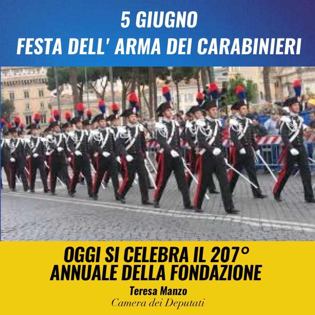 Oggi, #5giugno 2021, a 207 anni dalla sua fondazione, celebriamo la #FestadellArma dei @_Carabinieri_. Ringrazio le donne e gli uomini in divisa per il lavoro che svolgono per salvaguardare la nostra sicurezza e per il determinante supporto offerto nella gestione della pandemia. https://t.co/zXExbnJOUZ