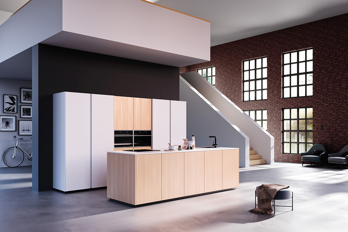 We specialise in German and English kitchen ranges. Our high-quality affordable @rotpunktuk range is contemporary and practical. This loft kitchen in City Oak and Snow is perfect for any home. Talk to us today about creating your new kitchen. #newkitchen #contemporarykitchen