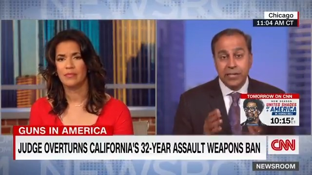 """Rep. Raja Krishnamoorthi says he thinks the federal judge's ruling that overturned California's longtime ban on assault weapons will be appealed. """"It sounds more like an advertisement and basically legislating on his part."""" https://t.co/roJpBdQqaA https://t.co/SB2pqfB2SI"""