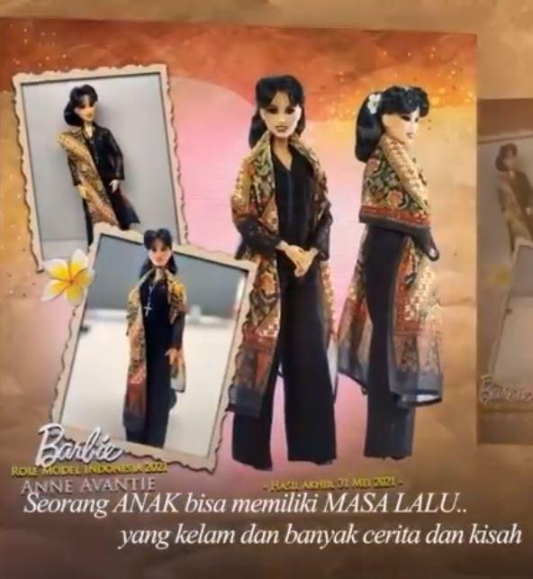 Anne Avantie, orang pertama asal Indonesia terpilih menjadi role model barbie 2021.