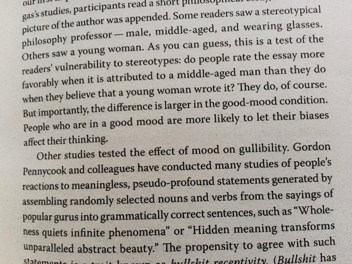 """""""People who are in a good mood are more likely to let their biases affect their thinking."""" Huonotuulisuuden hyviä puolia arvostetaan vihdoin 👍 Lukusuositus kolmikon Kahneman-Sibony-Sunstein kirjalle 'Noise'. https://t.co/1BgkkaSNYK"""