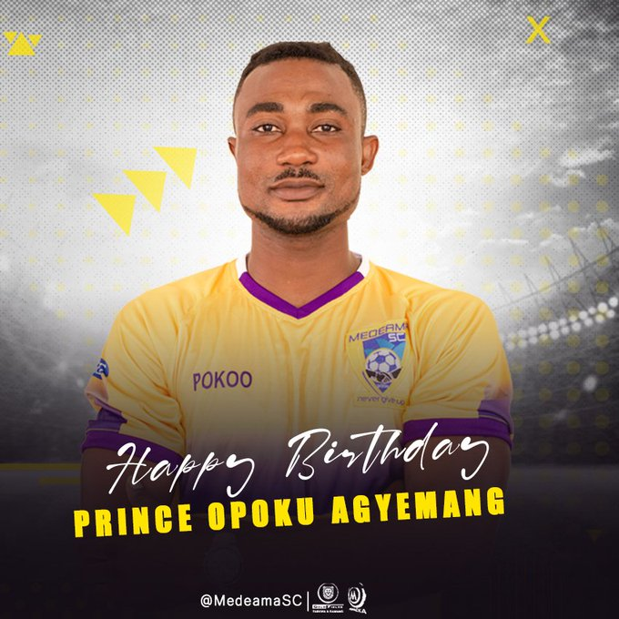 Join us in wishing our Striker  Prince Opoku Agyemang a very BIG  Happy Birthday!