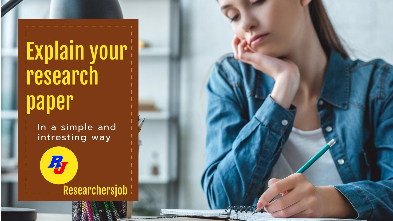 Explain your research paper in a simple way with Researchersjob