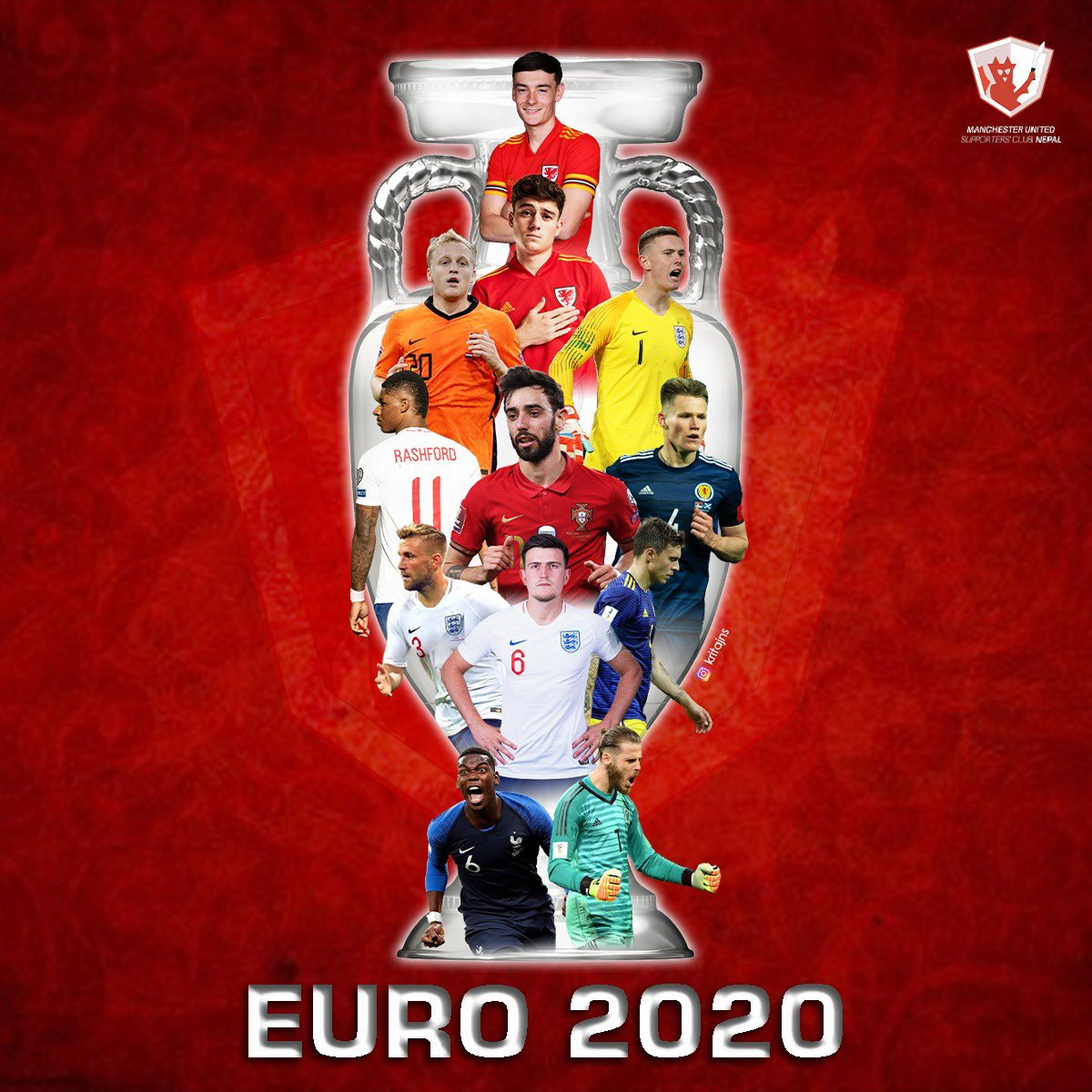 Good Luck to all the @EURO2020 participants 👍  #MUFC https://t.co/eoU7LrsPns