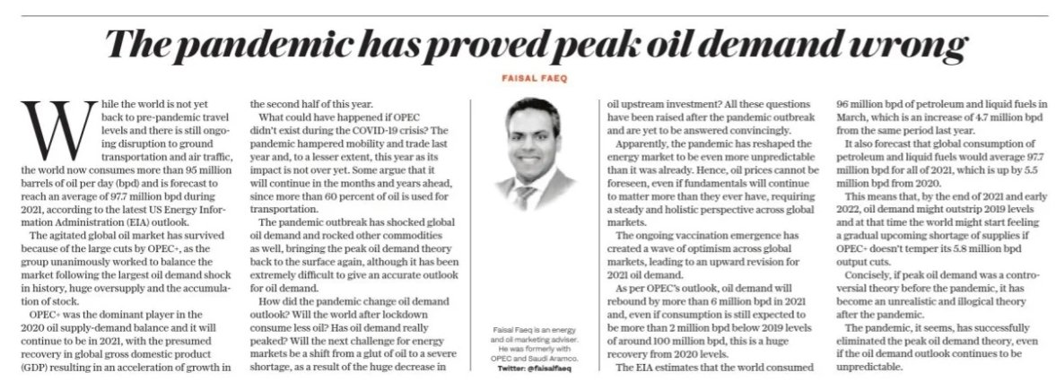 test Twitter Media - #OilPrice cannot be foreseen, even if fundamentals will continue to matter more than they ever have, requiring a steady and holistic perspective across global markets.  #PeakOil #FAISAL_FAEQ #OOTT #OPEC  Original Post @ArabNews  https://t.co/mbJpUjUuTx https://t.co/FsHVX4tBPu https://t.co/Yn4suuuV6z