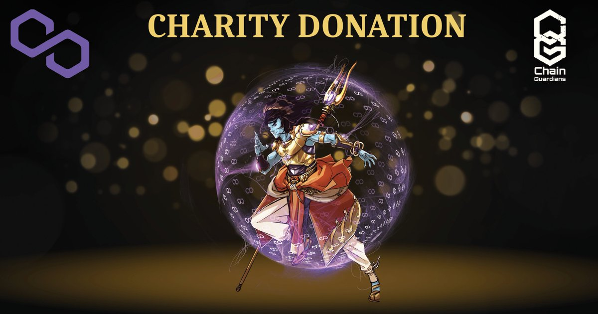 ⭐️CHARITY⭐️  The charity auction for Mudra #2 raised 2.4 ETH! ✨  ChainGuardians & @0xPolygon have now raised over 5 ETH through our collaborative campaign efforts.   The event ends 6.16.21; if you want to get involved 👇  tinyurl.com/MudraUp  #NFTsForGood #ChainGuardians