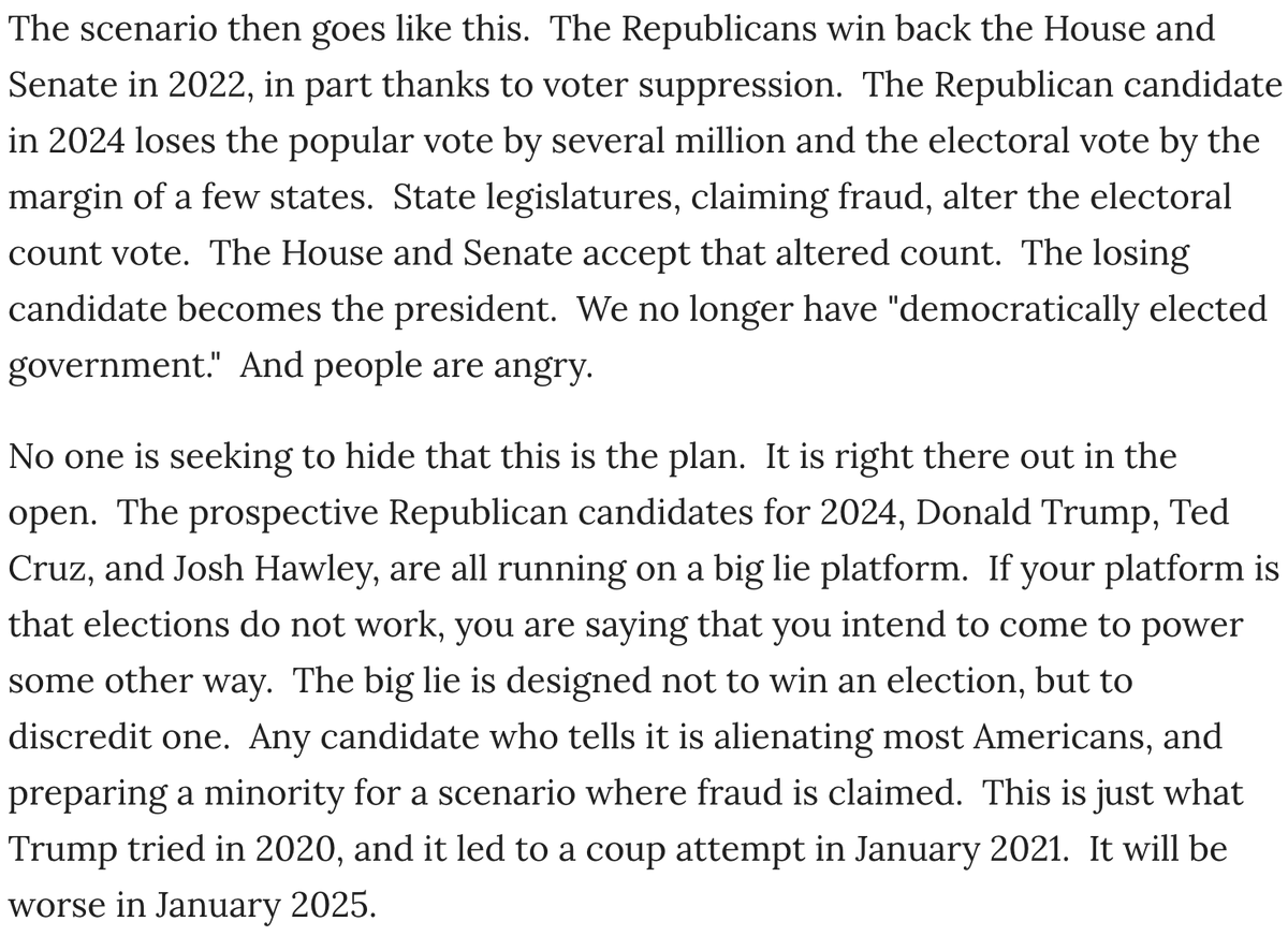 I agree with Timothy Snyder. This is where it's going, and there is presently nothing on the horizon that would stop it. https://t.co/osvhqph8IN https://t.co/7NPzevHtZv