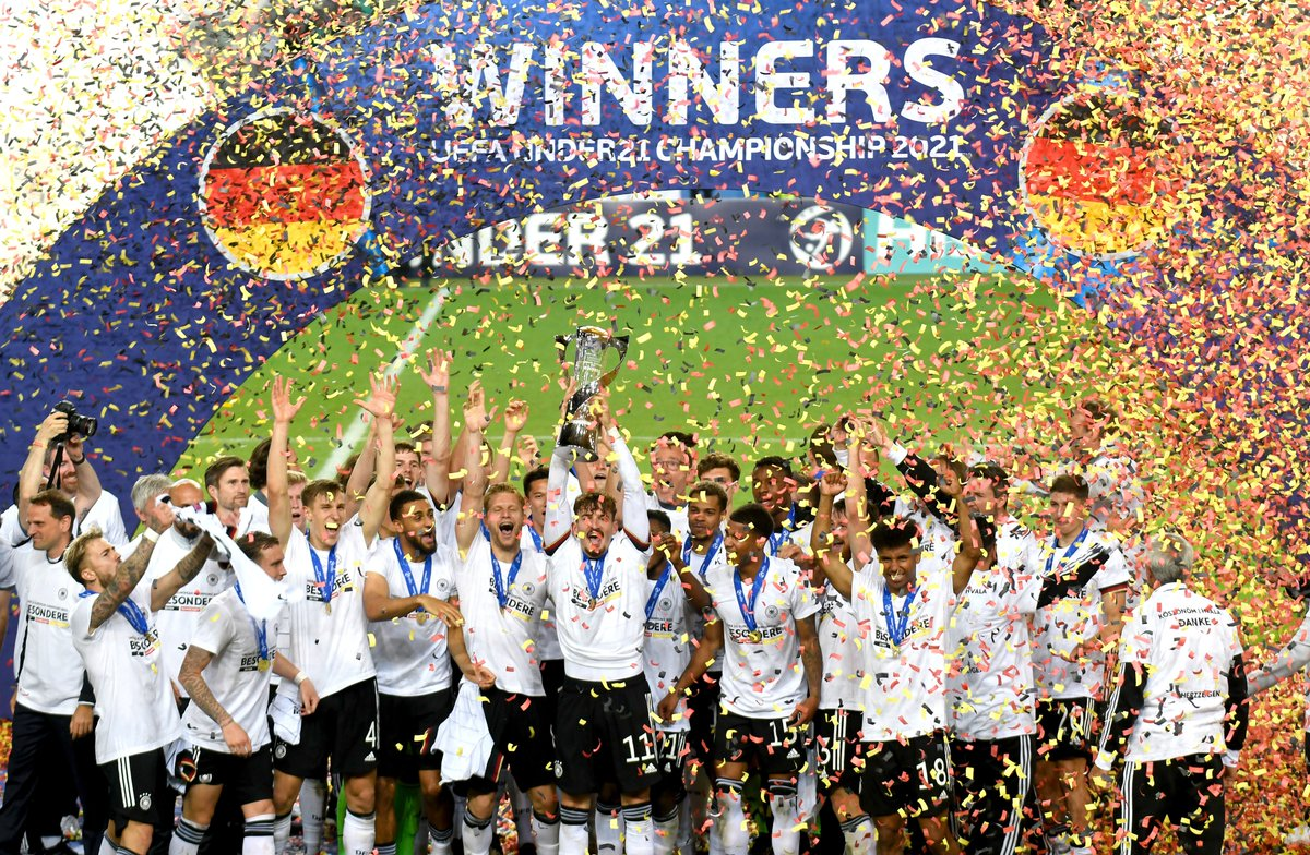 Their future is bright!    Germany won the #U21EURO for the third time! 🎉🏆 https://t.co/7SlceV9AOh
