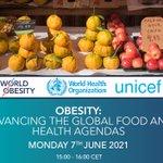 Image for the Tweet beginning: Join @WorldObesity, @WHO & @UNICEF