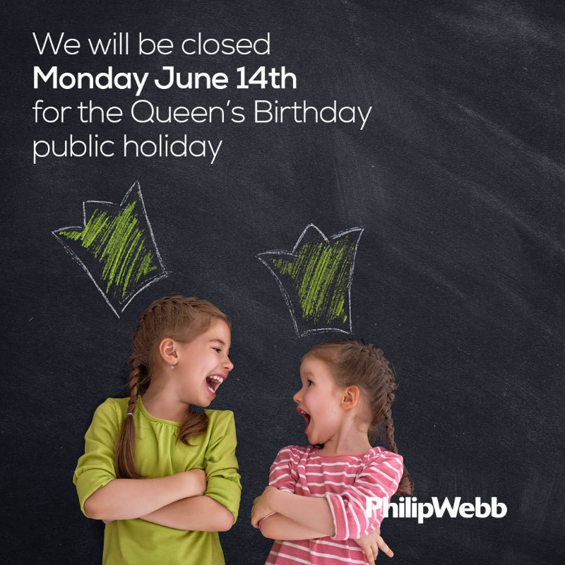 Please note that our offices will be CLOSED on Monday 14th June for the Queen's Birthday public holiday. https://t.co/W7TiptOU5N