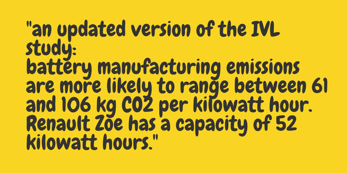"""""""IVL study:battery manufacturing emissions are more likely to range between 61 and 106 kg CO2 per kilowatt hour."""""""