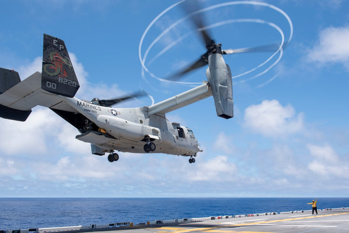 They're back!  Marine Medium Tiltrotor Squadron 265 (reinforced) has embarked aboard the USS America (LHA 6) as the @31stMeu Air Combat Element.  #FightNow #FreeAndOpenIndoPacific https://t.co/TXRyBmbc9T