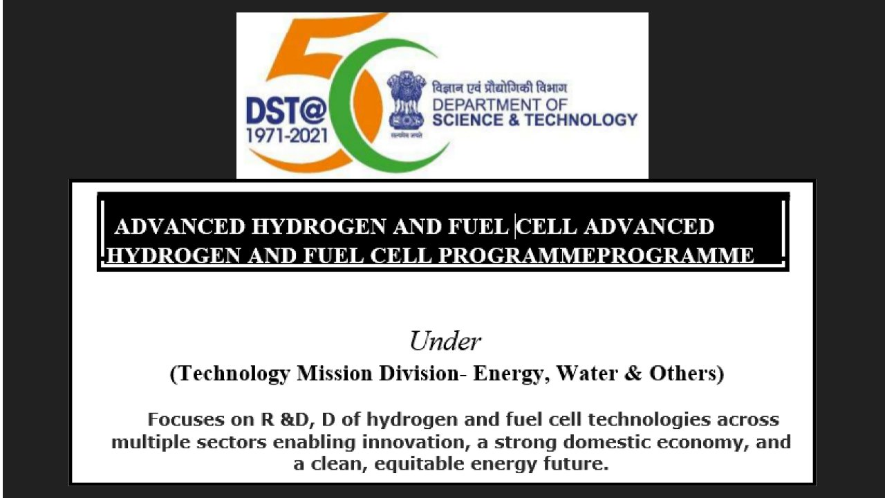Call for Proposals – DST, Under (Technology Mission Division- Energy, Water & Others
