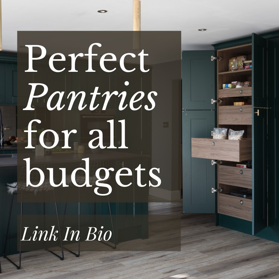 Get the must-have feature in your next kitchen - bit.ly/3ifPO6f . p.s we have pantries to suit all budgets and lifestyles 💛
