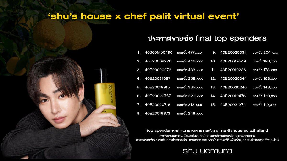congratulations おめでとう อีกครั้ง❗️  15 คนพิเศษ ที่จะได้ไปเปิดประตูสู่ญี่ปุ่น ⛩️ กับ shu house x chef palit virtual event    สุดท้ายแล้วจริงๆค่ะ เนื่องจากมีคุณลูกค้าขอสละสิทธิ์  ขอขอบคุณพลังแห่งความรัก พลังแห่ง yuzu ที่มีให้กัน #shuhousexChefPeck #shuhousexChefPalit