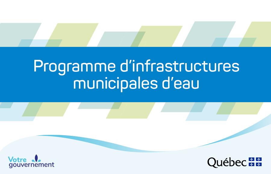 Programme d'infrastructures municipales d'eau