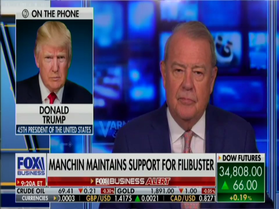 Donald Trump's Favorite Democrat @JoeManchinWV. I guess he's the Zell Miller of our time.