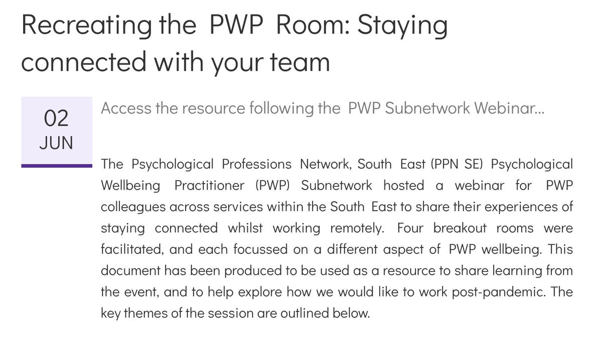 Psychological Professions Network: South East