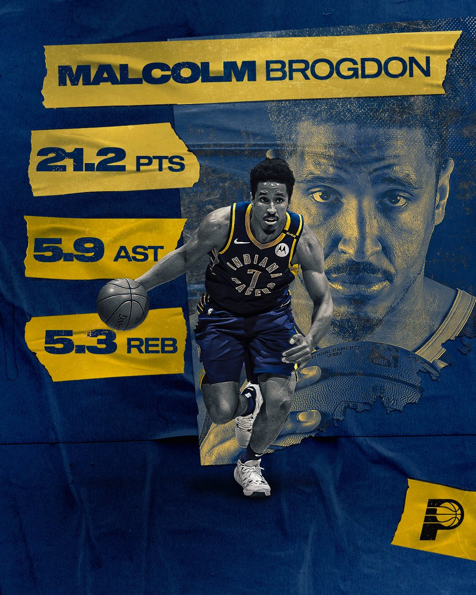 In his second season with the Pacers, @MalcolmBrogdon7 averaged career highs in points (21.2) and rebounds (5.3), while dishing out 5.9 assists and shooting 38.8% from deep.  Full #PacersReview2021: https://t.co/sLRUMR4wKi https://t.co/AnrVJmbxuN