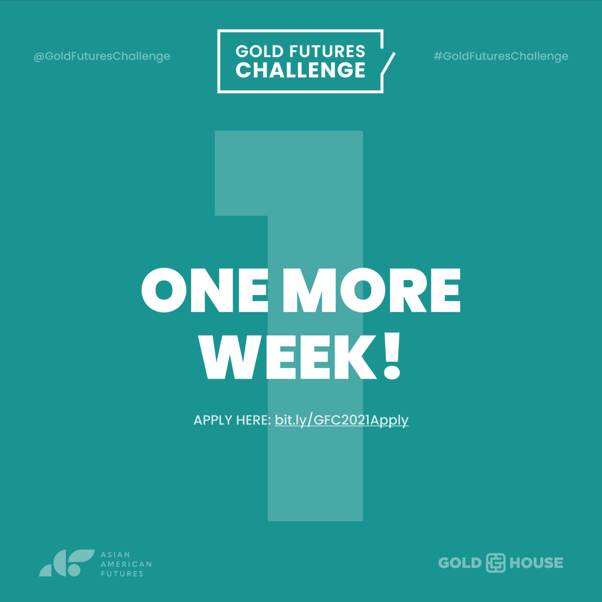 We're a proud partner of the #GoldFuturesChallenge, a grant making challenge that provides resources to #AAPI-serving organizations while increasing & democratizing philanthropy. Applications are due in a week. Apply today!  https://t.co/6LHwDJ90U1  @AAFutures @GoldHouseco https://t.co/DNUSgI9ICH