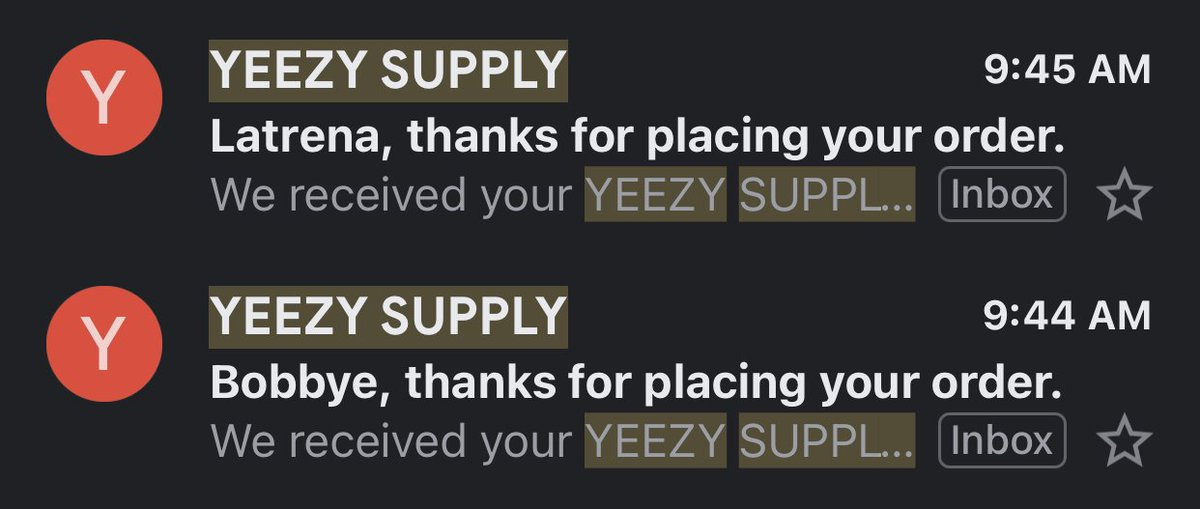 Thanks @KodaiAIO and @Galaxsio. Yeezy Supply checkouts were manual.   P: @UnknownProxies   G: @paradoxnotify @cookalerts @GFNF__ https://t.co/xGK1kOe0OB