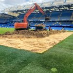 Image for the Tweet beginning: The Stamford Bridge pitch reconstruction