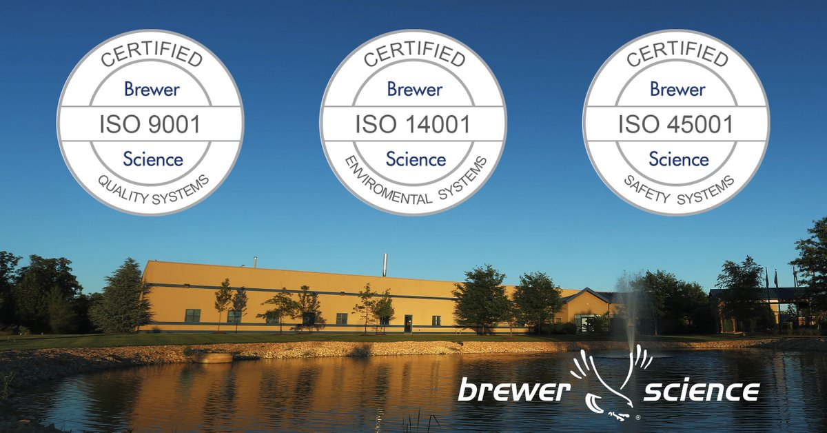 test Twitter Media - Brewer Science is pleased to announce the achievement of ISO 45001:2018 Occupational Health & Safety Management Systems Certification. Brewer Science is now certified in three different ISO Standards.  https://t.co/Y1QZK0sjdz https://t.co/5aZSw3Jc42