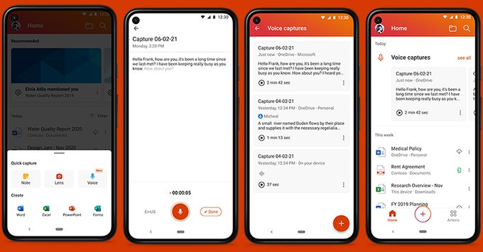 Office for android introduces new voice transcription feature for select users - onmsft. Com - june 8, 2021