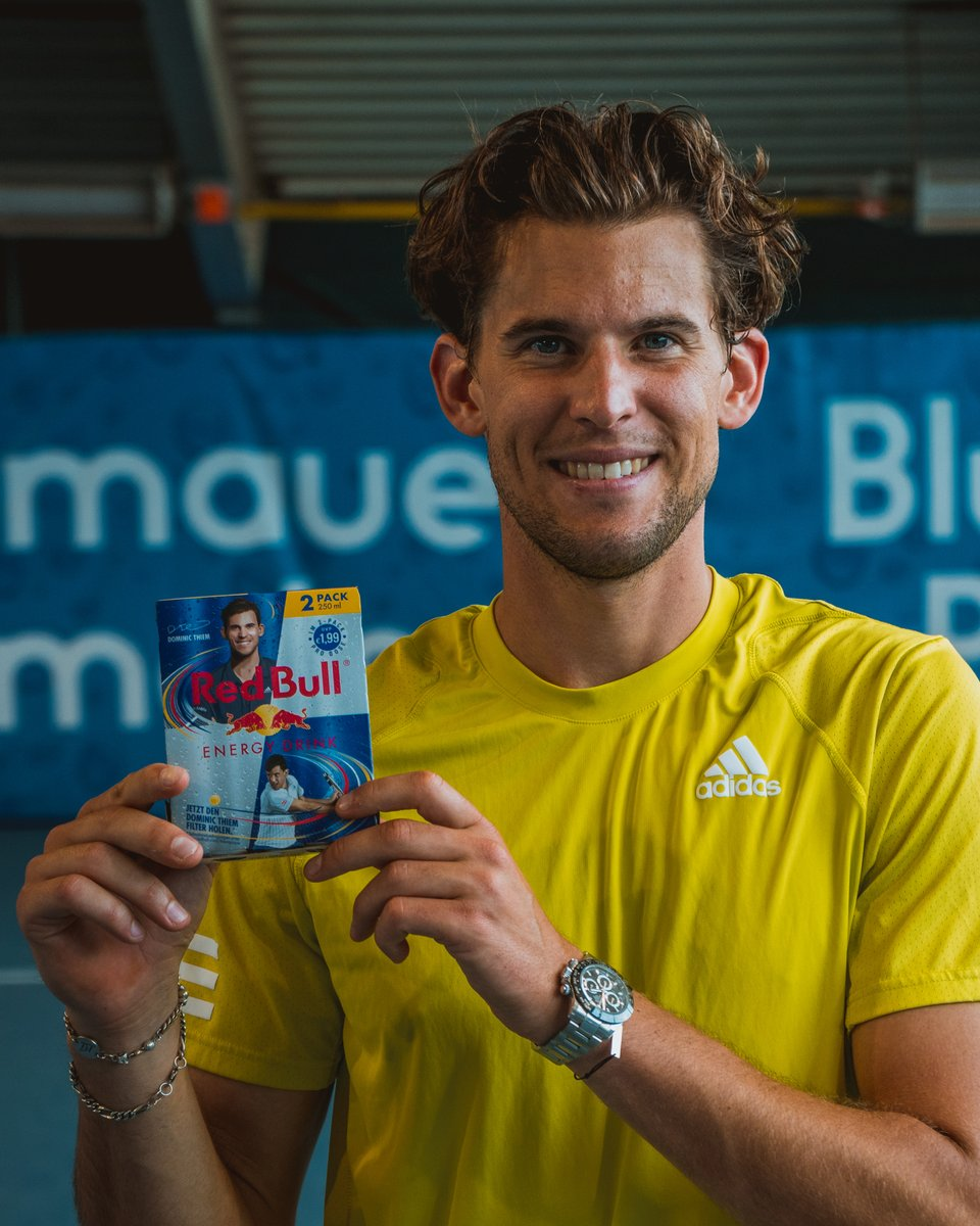 Proud to announce that my special 2 & 6 Thiem-pack @redbull  is now available in stores in Austria. Check out my new Instagram filter and become a Thiem-Player! #GivesYouWings  @redbullAustria https://t.co/U0Wyt4ErjK