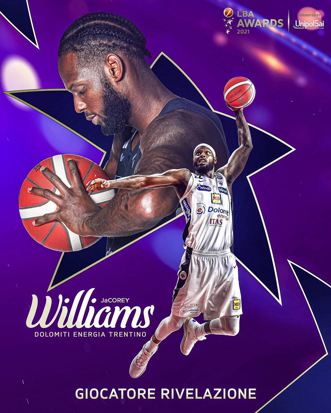 JaCorey Williams è il giocatore rivelazione della LBA 2020-2021