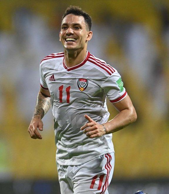 كايو : خطوة مهمة أخرى اكتملت في تصفيات كأس العالم ، سعيد للغاية لتسجيل هدف في المباراة ، الإمارات إلى الأبد!🇦🇪❤️💚🖤