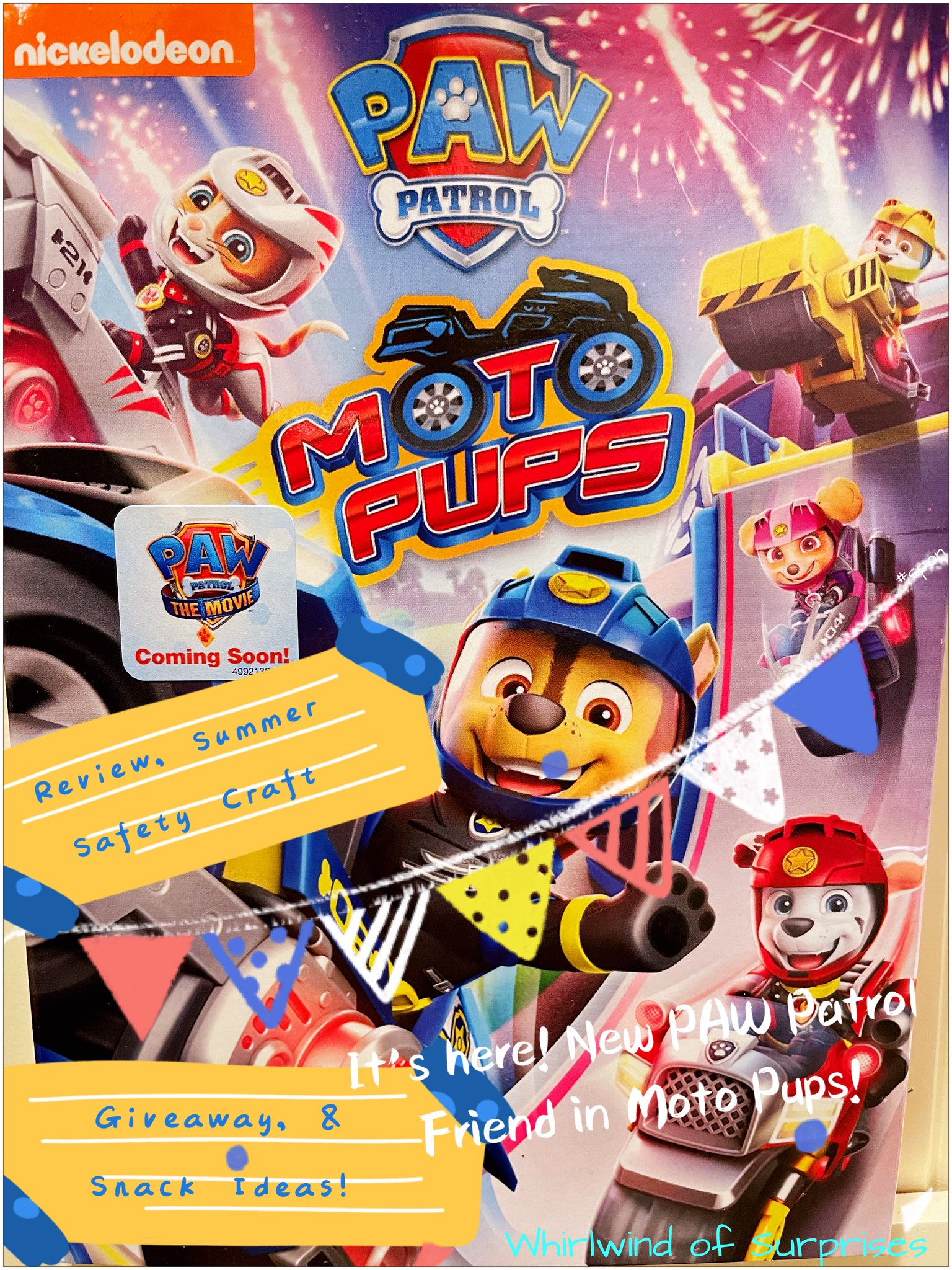 Paw Patrol Moto Pups Review, giveaway, crafts, and snack ideas