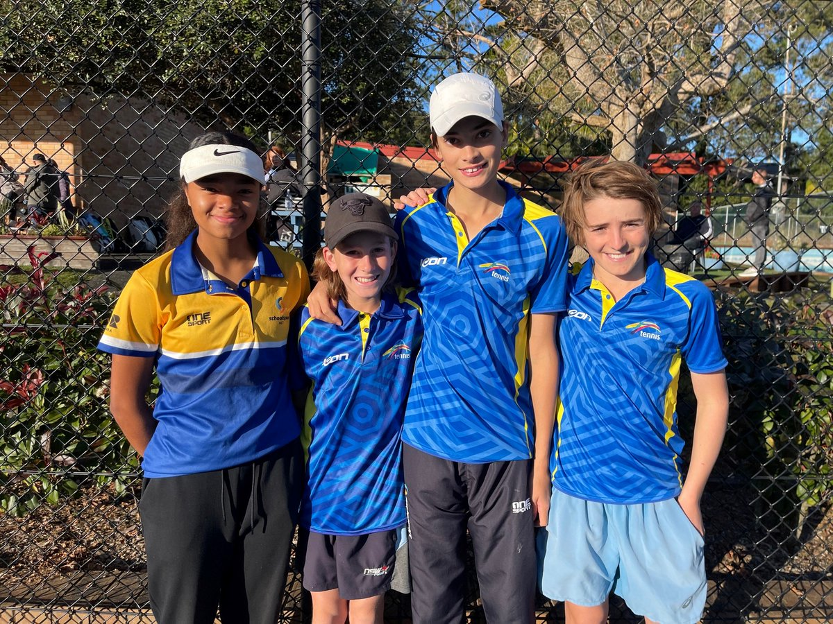 Congratulations to CGS students in U14s boys & girls ACT State Team Championships, who competed for the Ken Rosewall and Leslie Bowrey Cups Respectively. Hugh and Elijah scored 4 -2, and Oscar scored an impressive 5 -1  Wambui represented CGS in the girl's team and won 4 -1