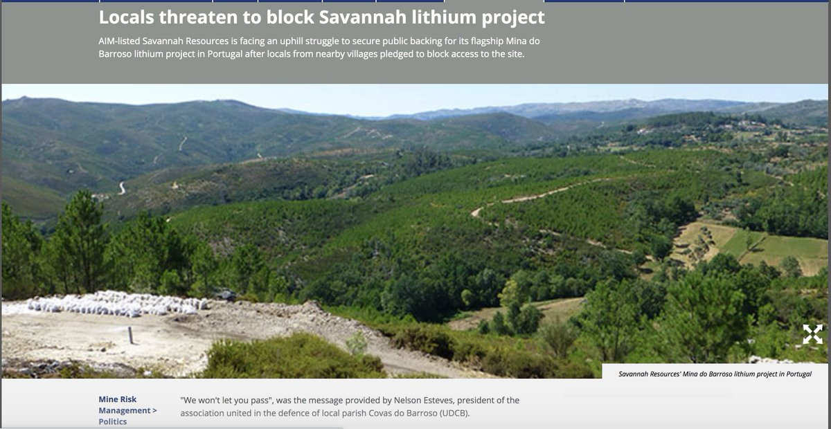 Billionaires For Future plan to destroy & poison new place?Yes, and such places will be a lot, as long as you support those  #LithiumForFuture organizations.The Mina do Barroso lithium project, Portugal.Electric cars don't help to decarbonize:Read whole thread.