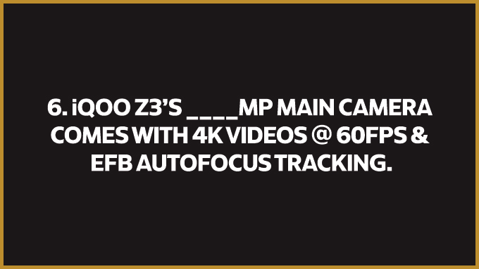 One of the best features of the #FullyLoaded iQOO Z3 5G is its main camera!  But do you know exactly how good it is?  Watch the event - https://t.co/6AxhWYhGCa  #Fullyloaded #iQOOZ3 https://t.co/tjIx4WMCie