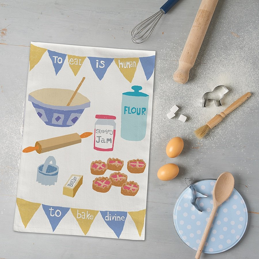 TO EAT IS HUMAN  TO BAKE DIVINE!  New baking mad tea towels are go!!  #madeinUK #bakinglove  #teatowelsofinstagram #kitcheninspiration #bakeoffuk #shakespeare
