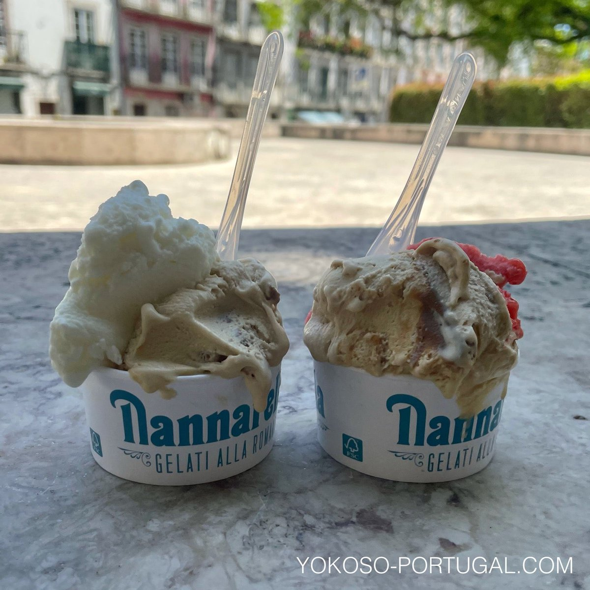 test ツイッターメディア - リスボンの国会議事堂近くの人気アイスクリーム屋さん。リスボンは最高気温30℃近くの暑い日が続いています。 (@ Nannarella in Lisboa) https://t.co/8Qtp5566IL https://t.co/7fyFsFNmAt