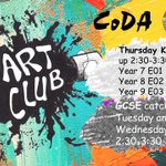 Image for the Tweet beginning: Art club is on a