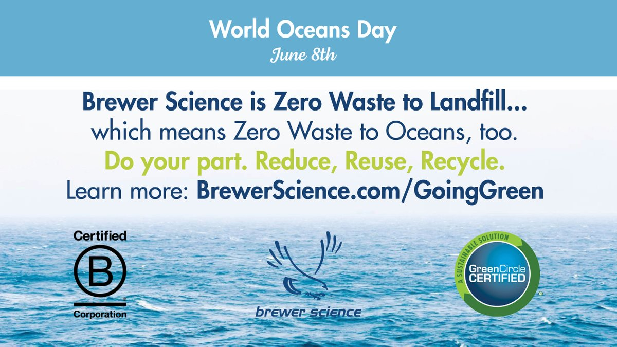 test Twitter Media - Brewer Science is Green Circle Certified, Zero Waste to Landfill for six consecutive years.  Learn about Brewer Science's other sustainability initiatives, https://t.co/tdG7dulF0y  @bcorpuscan @GreenCircleCert https://t.co/OQCiJz9Fks
