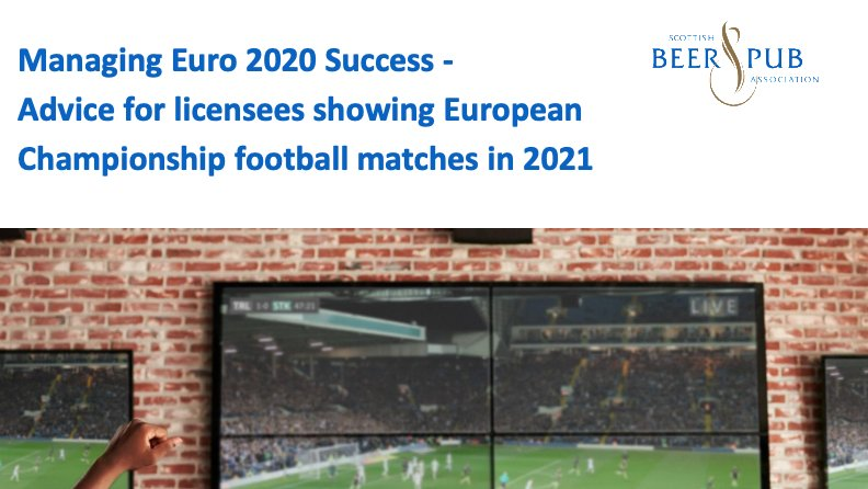 Euro 2020 guidance for pub operators has now been published and is available on the SBPA website:  https://t.co/ice1epMlap  Big thanks to @scotgov, @policescotland, @SLTAssociation, @ukhscotland, @ScottishGroup, @SAIP_Scotland for their support. https://t.co/xahmx4Qbzr