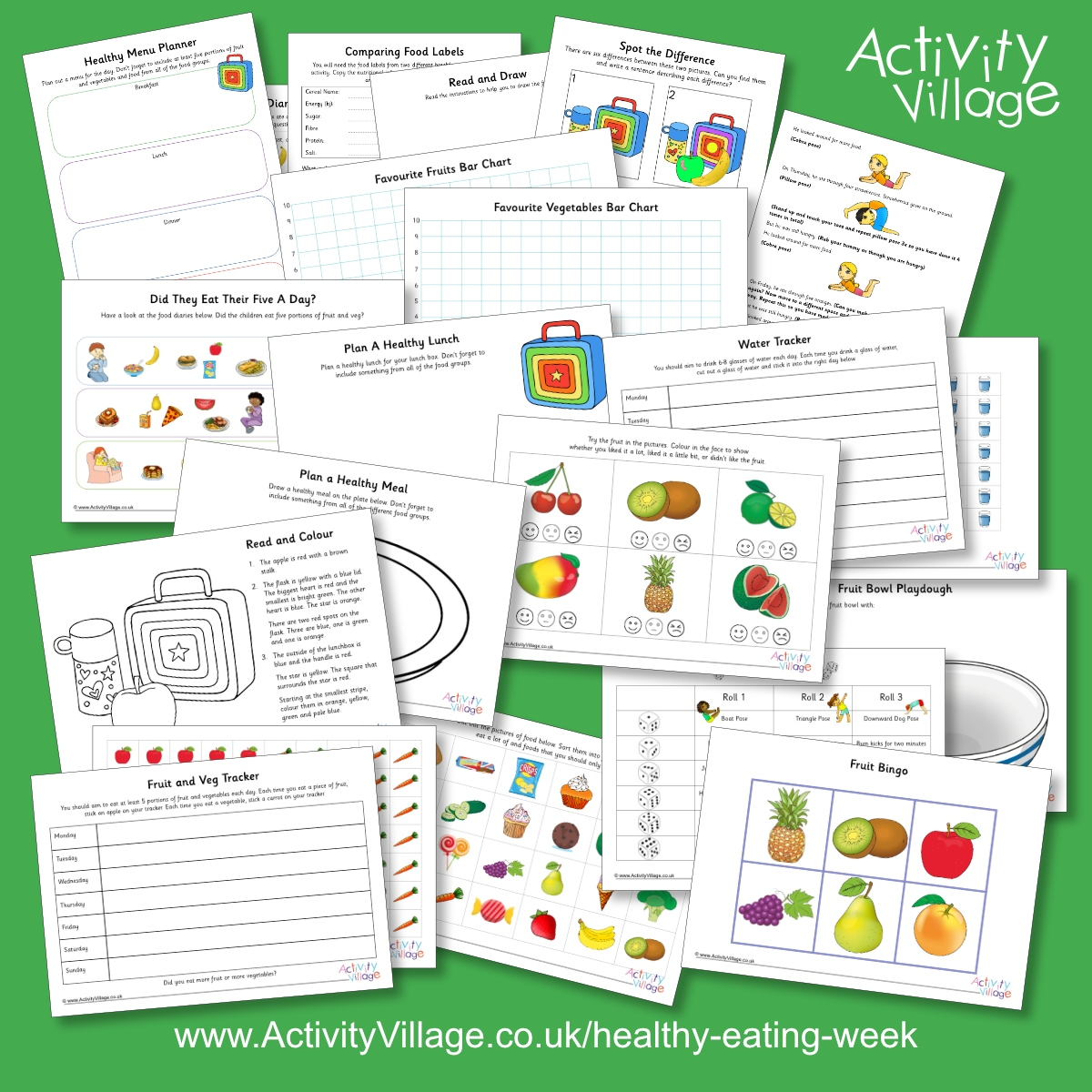 Activity Village On Twitter This Year For The First Time We Are Featuring Healthy Eating Week Which Runs From 14th To 18th June And Encourages Us All To Look At All Aspects