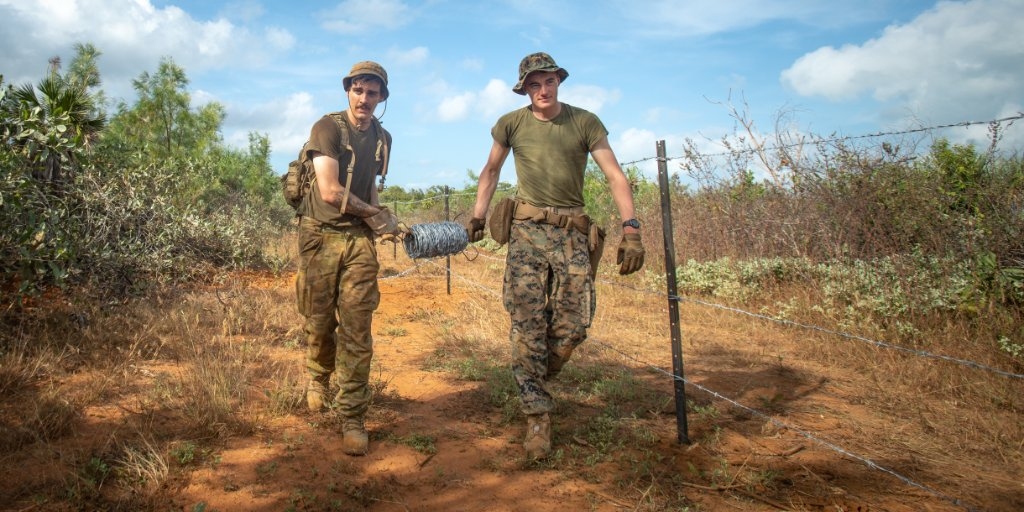 """#Marines with @MrfDarwin teamed up with the Australian Defense Force for """"Crocodile Response,"""" a humanitarian assistance and disaster relief exercise, to be ready to rapidly provide assistance to regions affected by a natural disaster. #AlwaysReady https://t.co/2qa6pJjfpx"""
