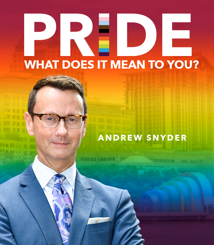 Happy #PrideMonth! We asked some of our LGBTQIA+ team members what this special occasion means to them. Read on to learn what Andrew Snyder, senior vice president, marketing and strategic communications, had to share. #Pride #ChooseOrlandoHealth https://t.co/D5B73Cz2Sf