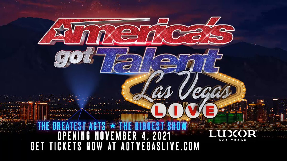 The greatest acts. The biggest show. Only at Luxor. #AGTVegasLIVE  Catch all your favorite #AGT performers right here at the Pyramid at the new @AGTVegasLive show premiering this November: https://t.co/QY1GbwpPi2 https://t.co/qzxjs2zMqS