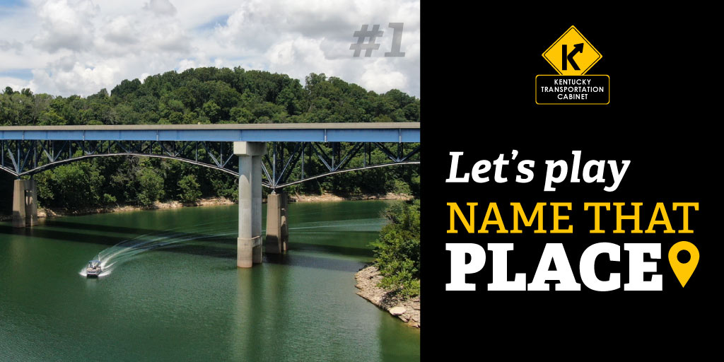 ANSWER: This photo is of none other than the Twin Pitman Creek Bridges on US-27! Built in 1993 in Burnside (Pulaski County), these bridges offer a beautiful view of Lake Cumberland below in kytcdistrict8!