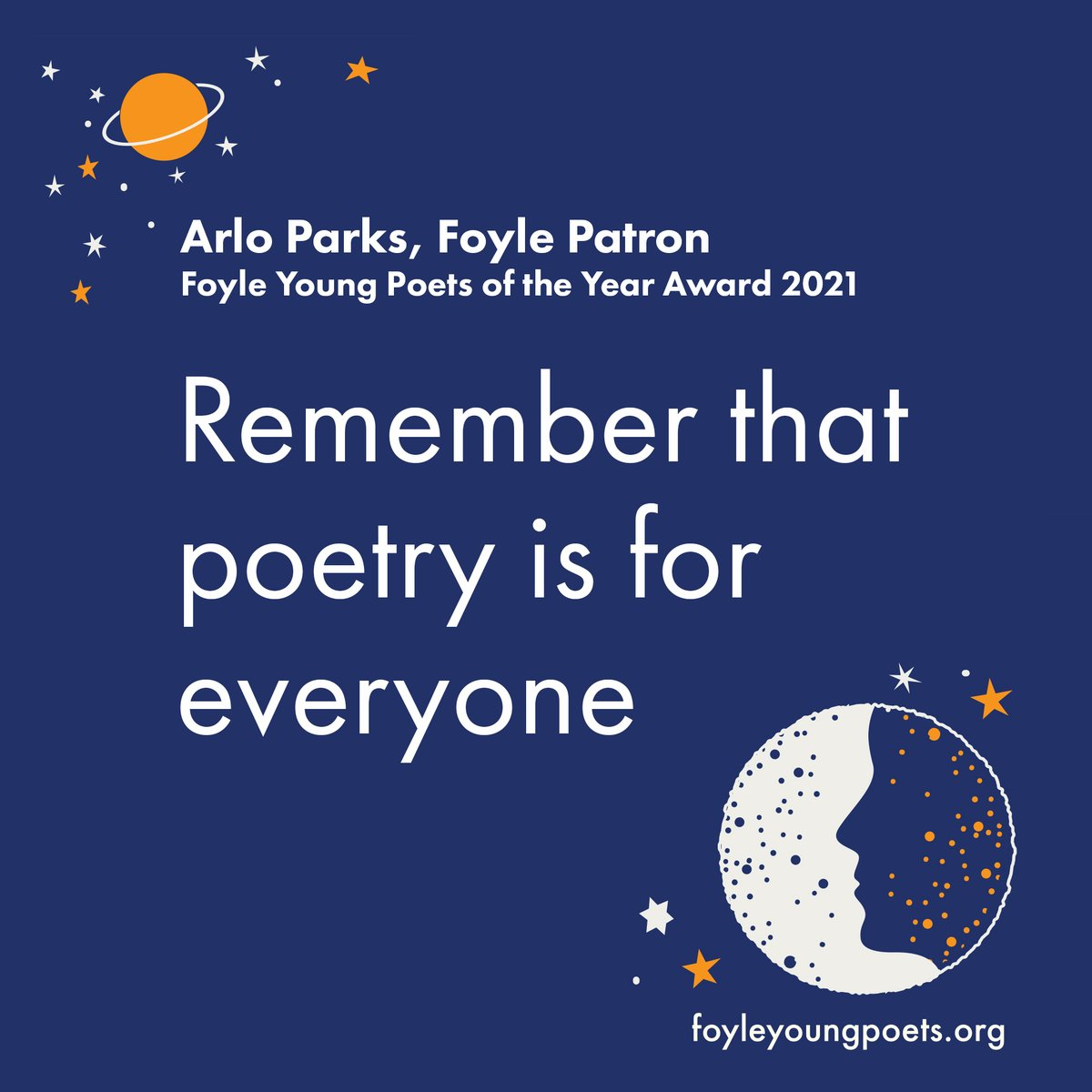 """test Twitter Media - """"Poetry is for everyone""""  Words of encouragement from @arloparks , patron of this year's Foyle Young Poets of the Year Award.  If you're aged 11-17 find out more about the competition at https://t.co/ZiArEziDYX  Enter online at https://t.co/BYvO8ywy1t by 31 July. https://t.co/myf5tNDW5W"""