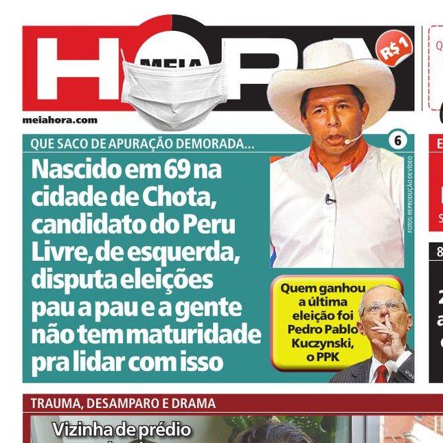 Pronto, depois dessa capa do @meiahora zeraram os trocadilhos sobre a eleição no Peru https://t.co/ORyLuVJzvx
