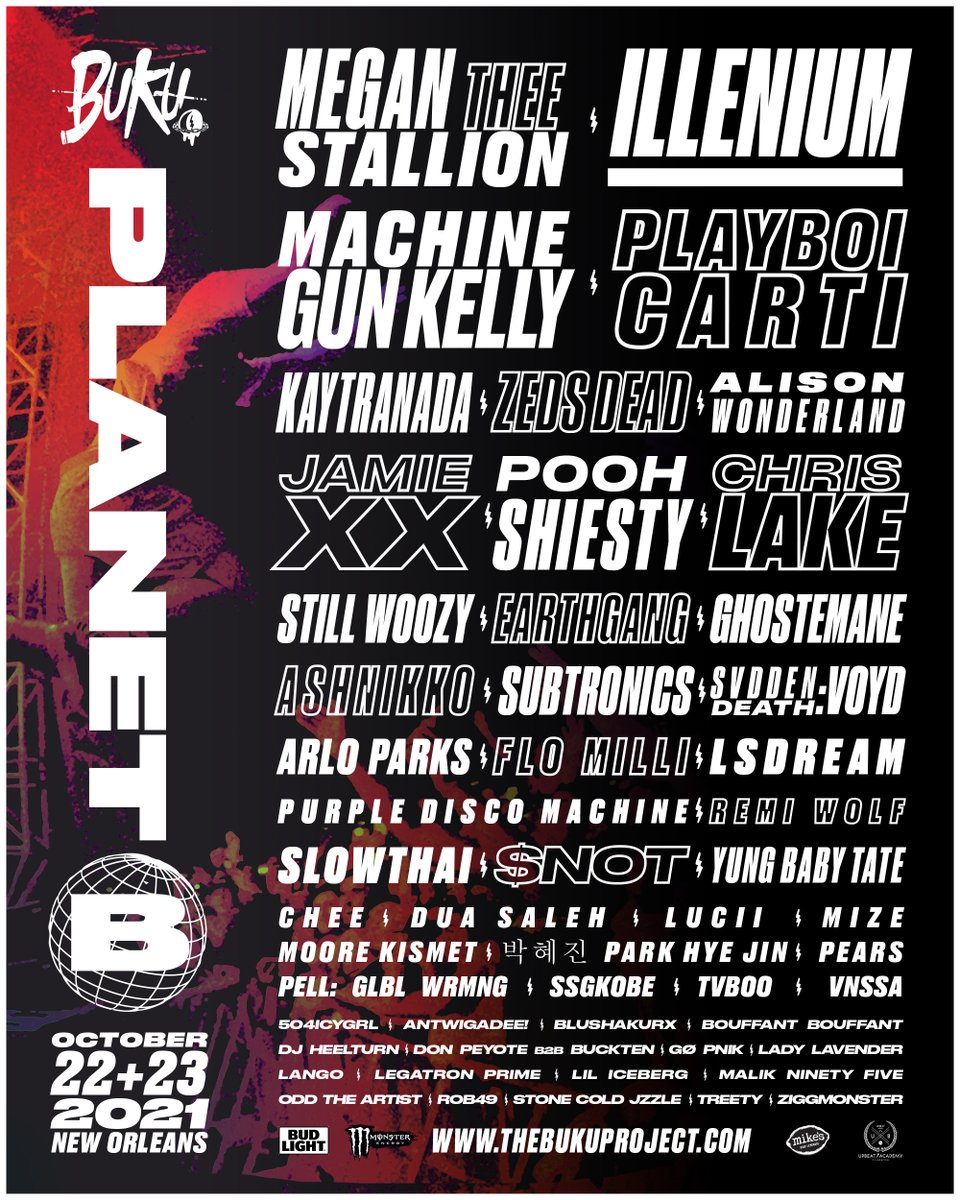 Buku Music Festival 2021 lineup